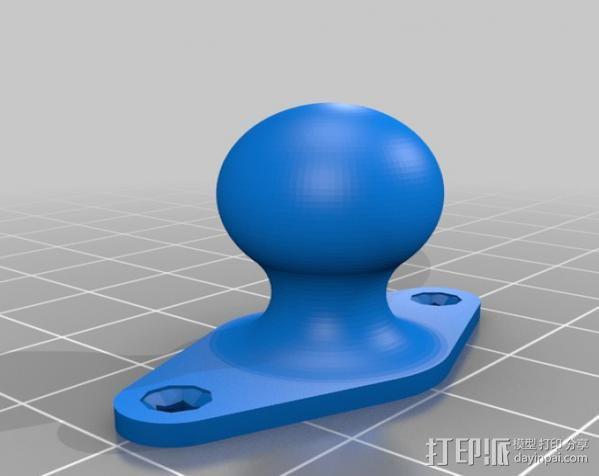铰链式球形接头 3D模型  图2