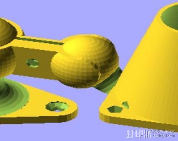 铰链式球形接头 3D模型  图6
