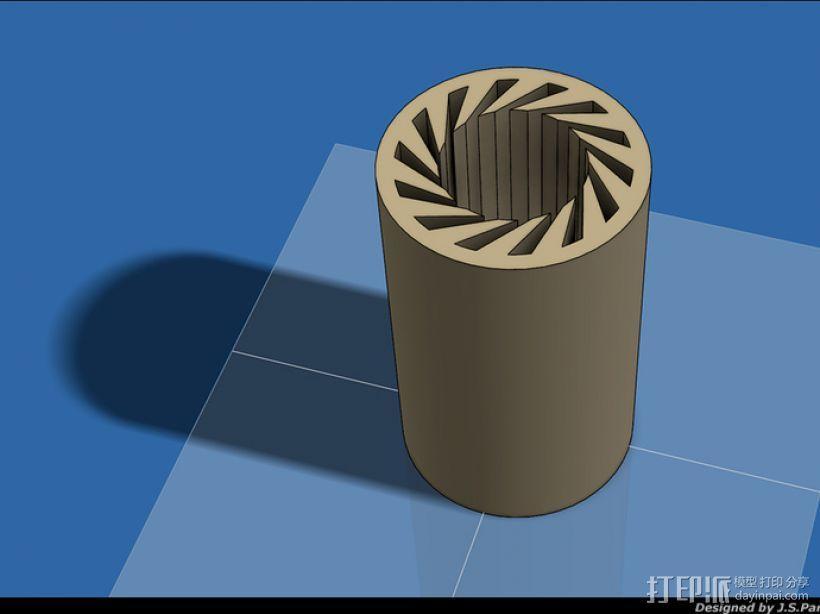 LM8UU轴承 3D模型  图1