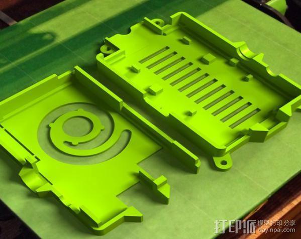 树莓派打印服务器安装座 外盒 3D模型  图3