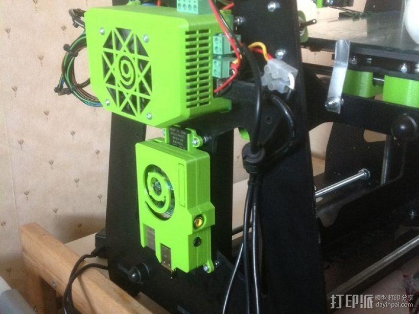 树莓派打印服务器安装座 外盒 3D模型  图1