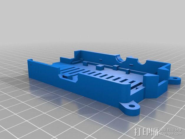 树莓派打印服务器安装座 外盒 3D模型  图5
