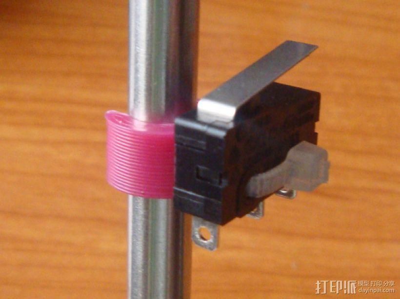 打印机限位开关夹 3D模型  图1