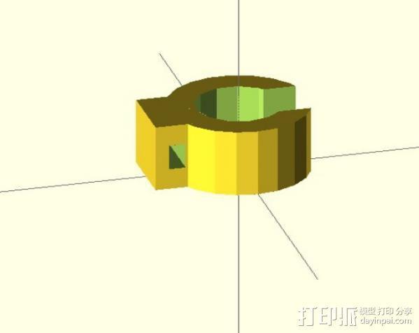 打印机限位开关夹 3D模型  图3