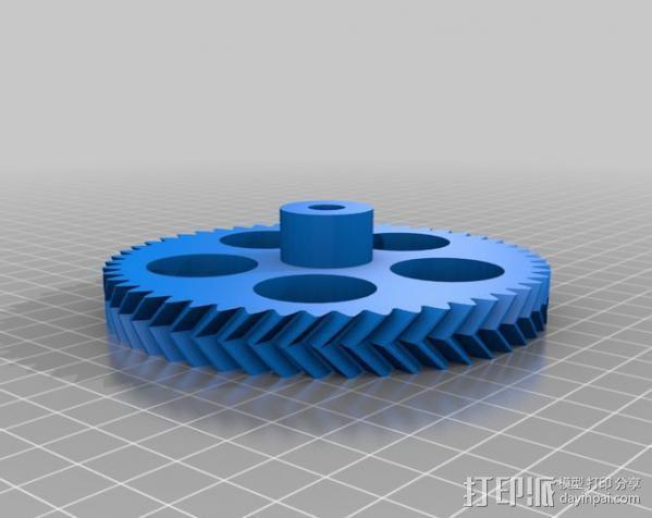 人字齿轮组 3D模型  图3
