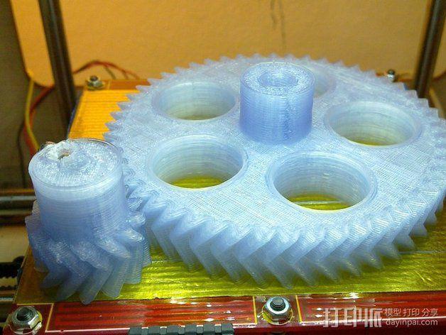 人字齿轮组 3D模型  图2