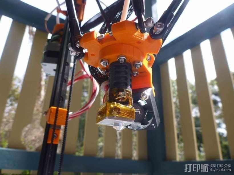 打印机风扇架 3D模型  图1