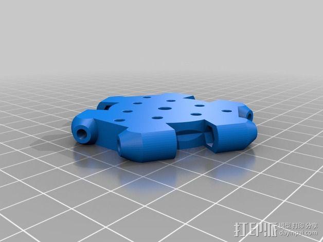 打印机风扇架 3D模型  图3