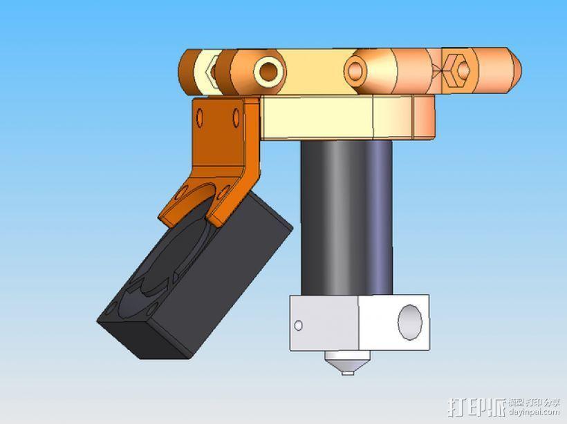 打印机风扇架 3D模型  图8
