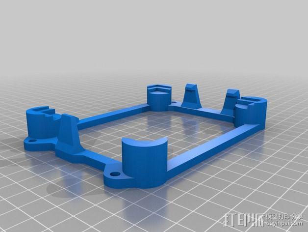 MegaController 主控板外框 3D模型  图2
