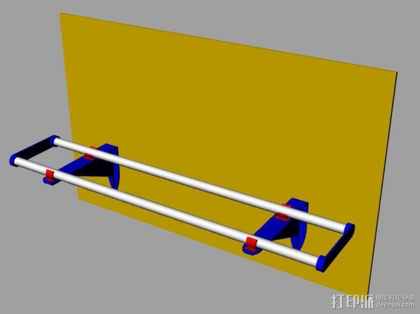 线材线轴架 3D模型  图2