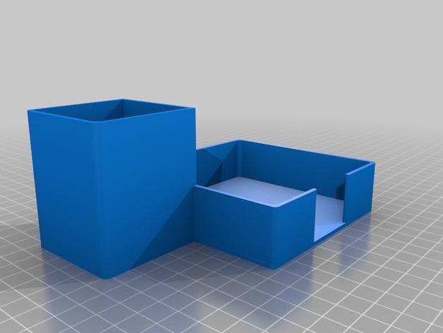 写字台办公文具盒  3D模型  图2