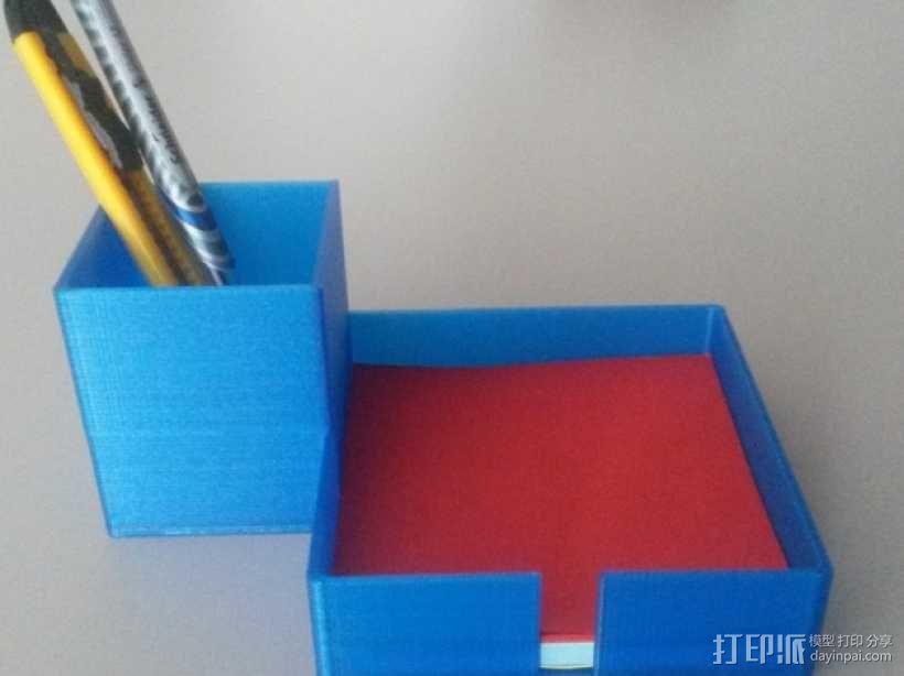 写字台办公文具盒  3D模型  图1