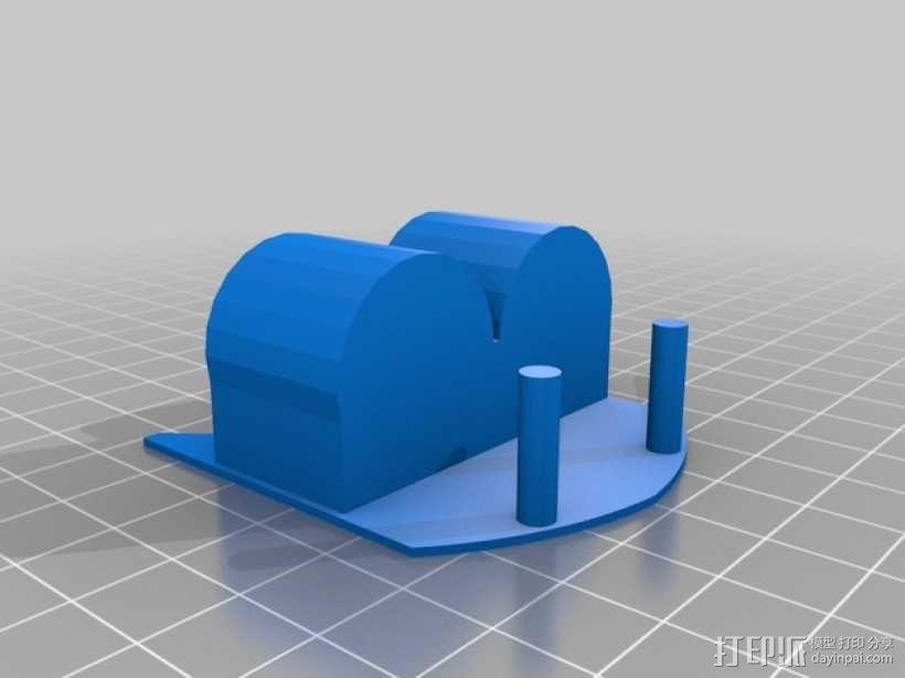 固体胶架 3D模型  图2
