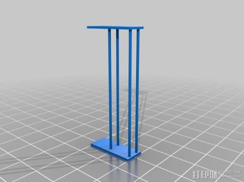 大型框式线轴架 3D模型  图2
