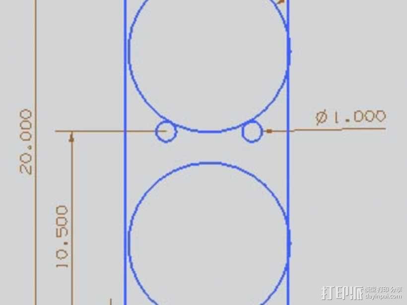 大型框式线轴架 3D模型  图3