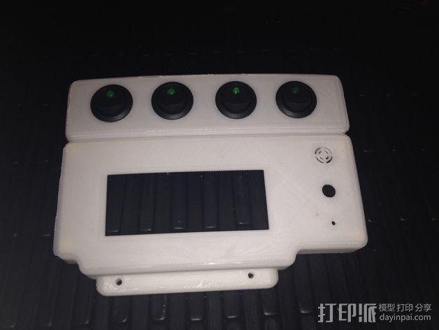 智能控制器显示屏保护壳 3D模型  图1