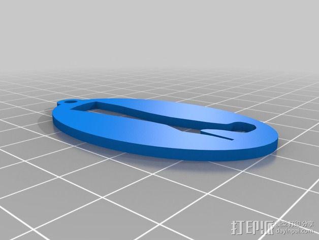 高跟靴子钥匙坠 3D模型  图2