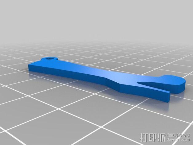 高跟靴子钥匙坠 3D模型  图3