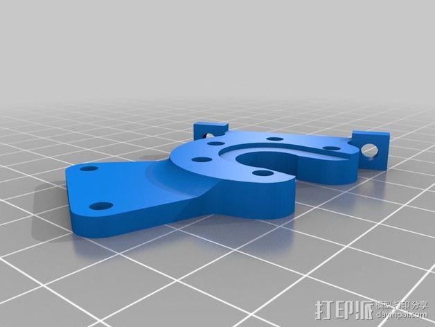 Kossel Mini 打印机J形头通风导管 3D模型  图4