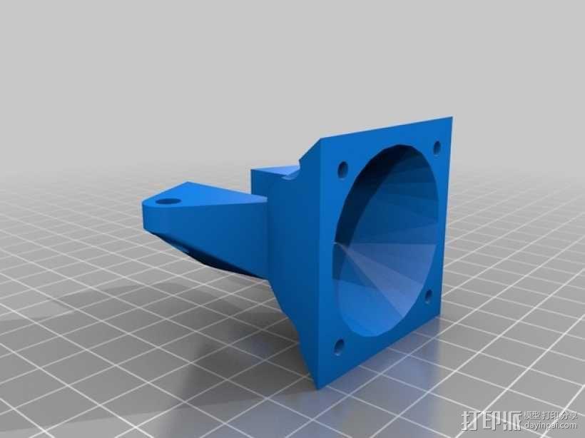 Prusa i3挤出机通风导管 3D模型  图1