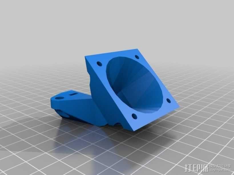 Prusa i3挤出机通风导管 3D模型  图3