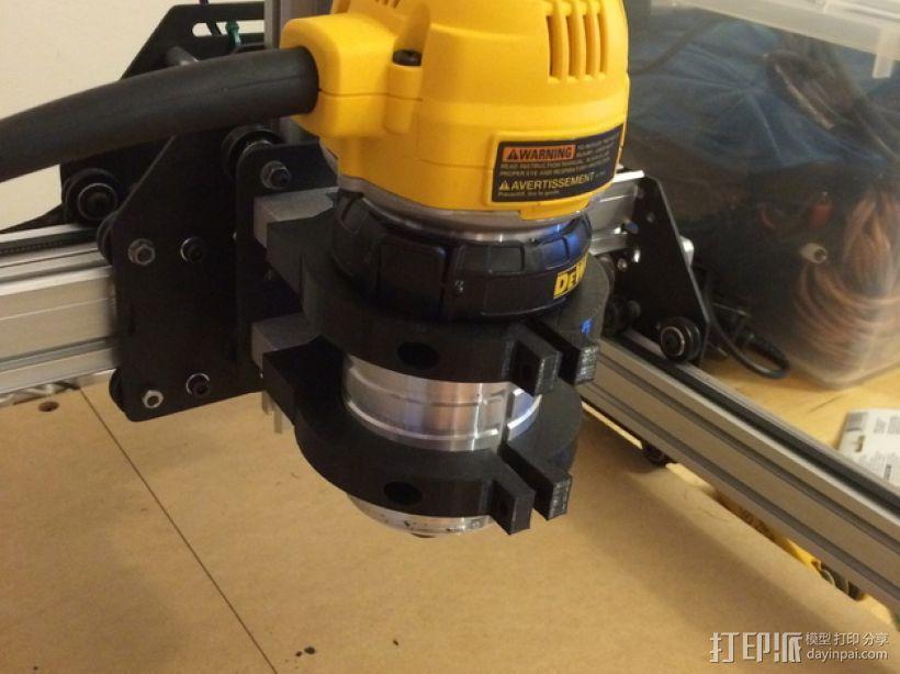 Dewalt DW 611雕刻机支撑架 3D模型  图1