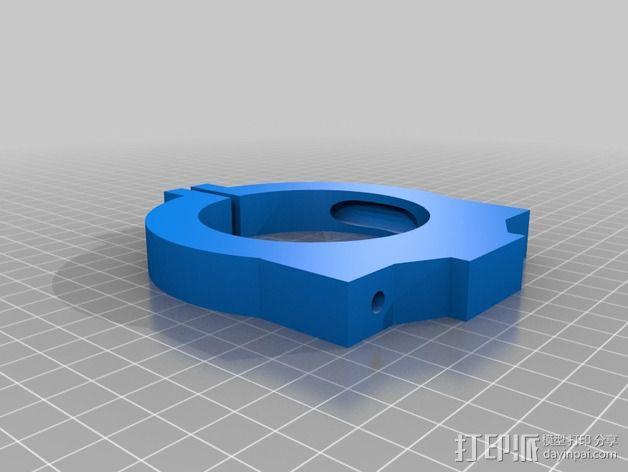 Dewalt DW 611雕刻机支撑架 3D模型  图2
