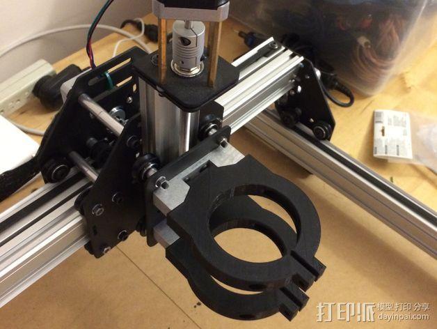 Dewalt DW 611雕刻机支撑架 3D模型  图3
