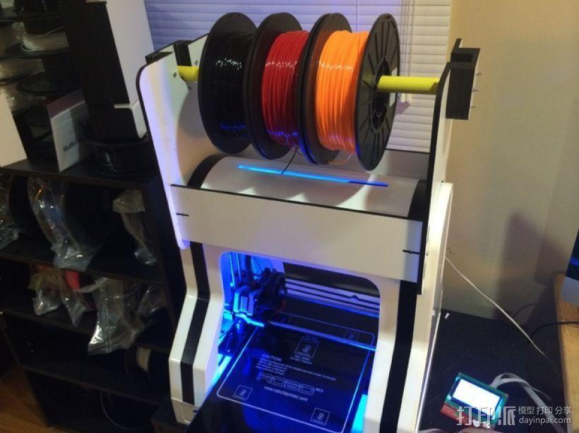 Robo3D打印机线轴架 3D模型  图1