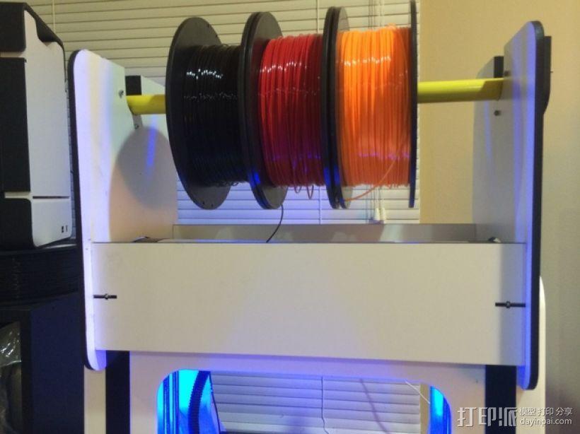 Robo3D打印机线轴架 3D模型  图3