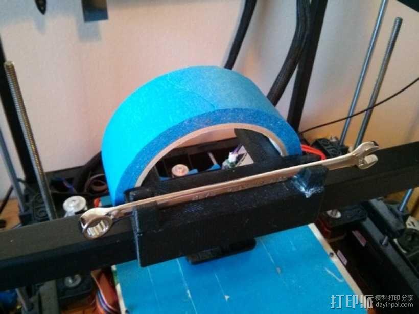 Rigidbot 打印机胶带架 3D模型  图1