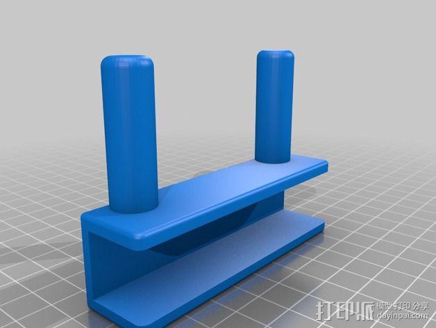 Rigidbot 打印机胶带架 3D模型  图2