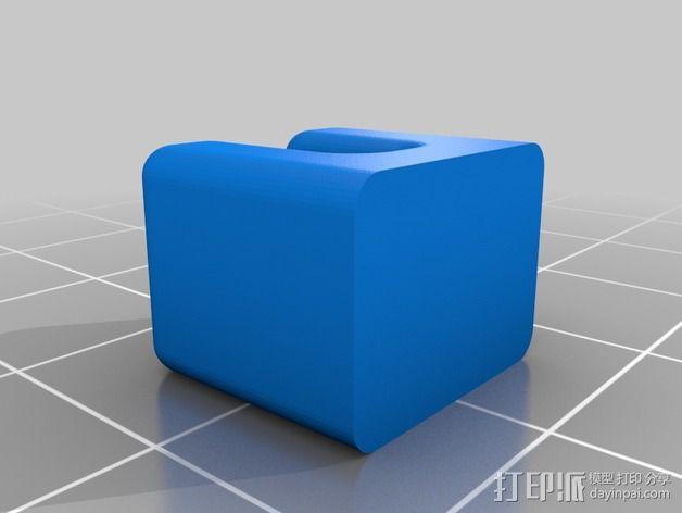 Rigidbot 打印机胶带架 3D模型  图3