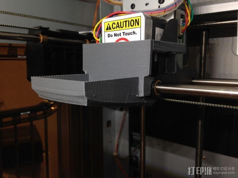 XYZprinting Davinci打印机风扇导管 3D模型  图1