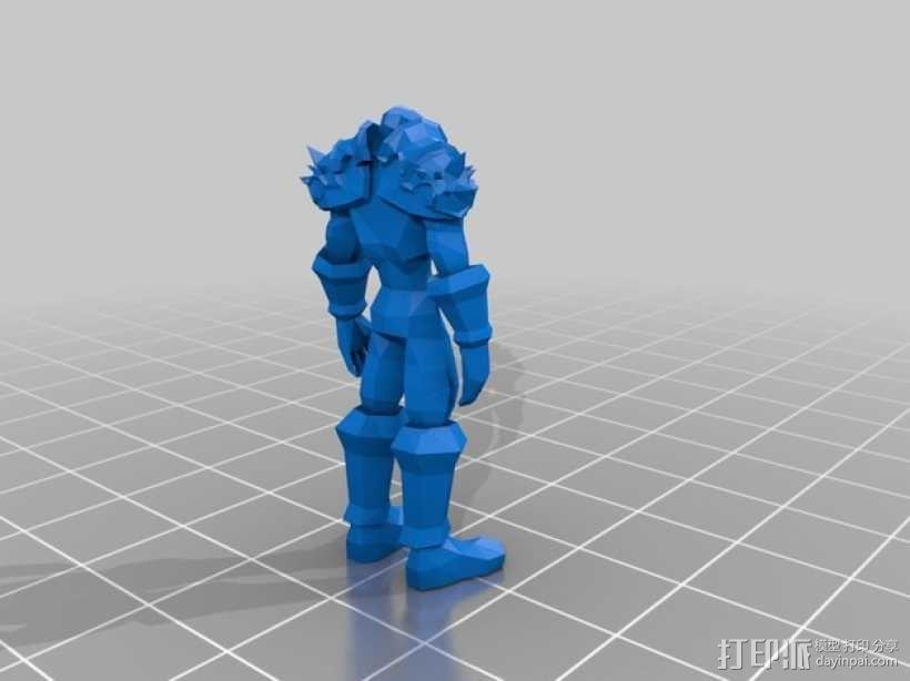 战士与维纳斯 3D模型  图1