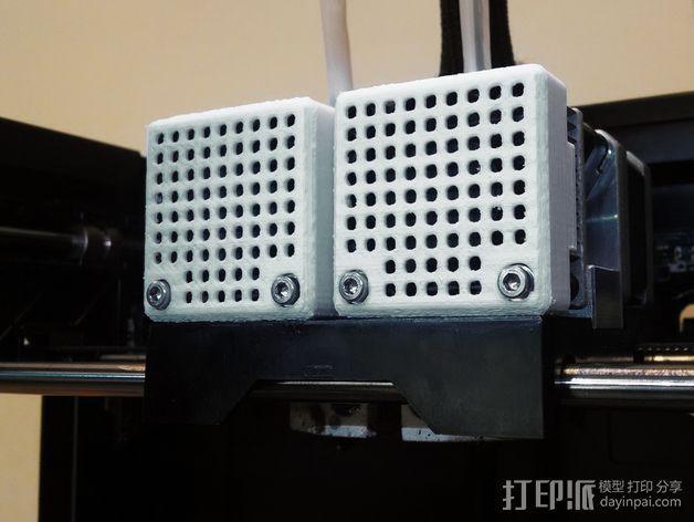 Replicator打印机风扇罩 3D模型  图1