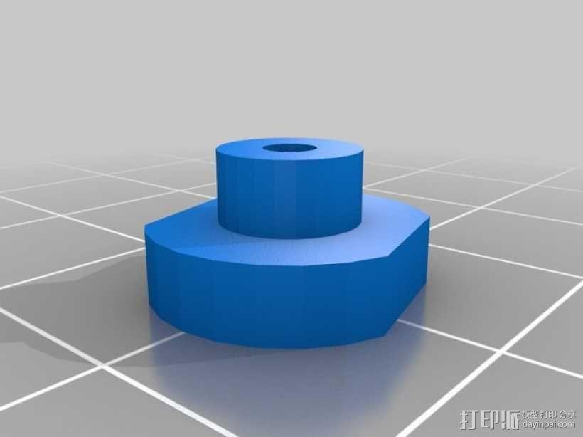 Rigidbot打印机摄像头支撑座 3D模型  图3
