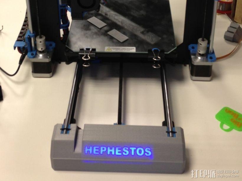 Prusa i3打印机前盖装饰 3D模型  图3