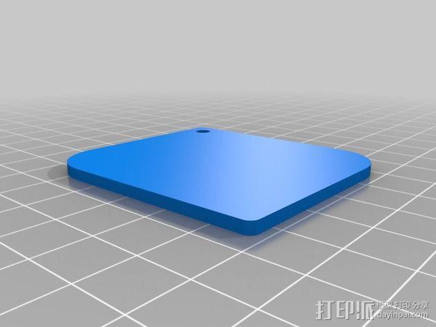 射手座钥匙扣 3D模型  图2