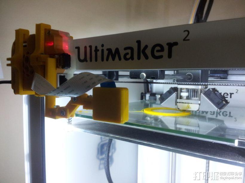 树莓派相机框架和底座 3D模型  图1