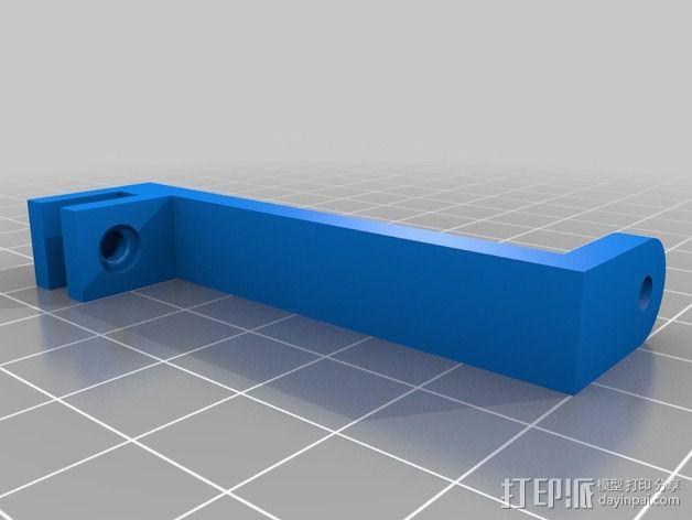树莓派相机框架和底座 3D模型  图3