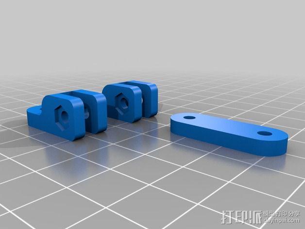 树莓派相机框架和底座 3D模型  图2