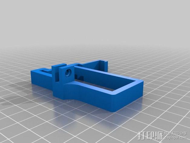 树莓派相机框架和底座 3D模型  图4