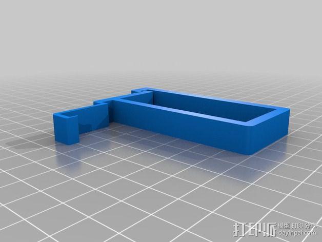 树莓派相机框架和底座 3D模型  图5
