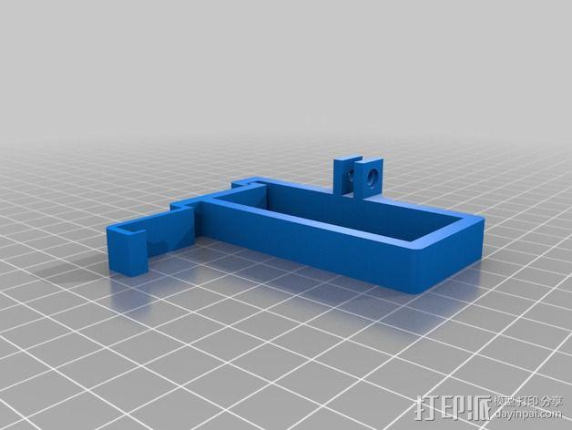 树莓派相机框架和底座 3D模型  图6