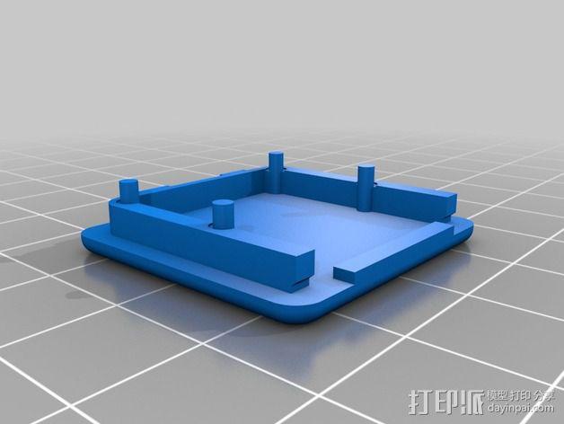 树莓派相机框架和底座 3D模型  图7