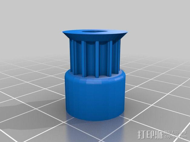 打印机滑轮 3D模型  图2