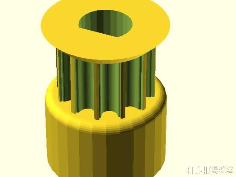 打印机滑轮 3D模型  图1