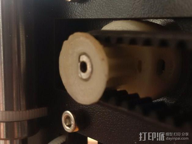 打印机滑轮 3D模型  图3